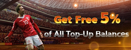Get Free 5% of All Top-Up Balances
